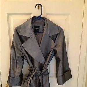 Elegant Grey Metallic wrap top